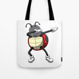 Dabbing Ladybug T Shirt Dab Beetles Dancing Pose Tote Bag