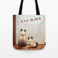 friendship Tote Bags featuring Friendship by Naomi VanDoren