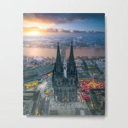 Sunset at the Rhine Metal Print