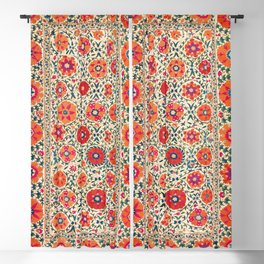 Kermina Suzani Uzbekistan Embroidery Print Blackout Curtain