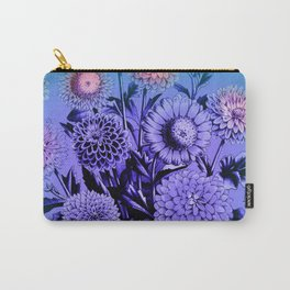 Blue Mums Carry-All Pouch