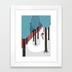 Mountain biking Framed Art Print