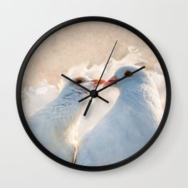 Kissing Dove Birds - Valentine's Day Theme Wall Clock