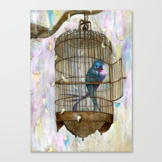 Birds in Love! Canvas Print
