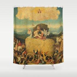 The Haywain Triptych - Hieronymus Bosch Shower Curtain