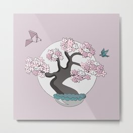 Birds like Bonsai Metal Print