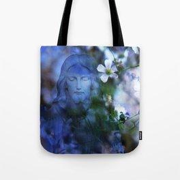 Jesus Christ In The Garden By Annie Zeno Tote Bag