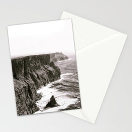Cliffs of Mohr Ireland Black And White Stationery Cards