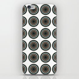 Abstract Modern Concentric Circles Texture iPhone Skin