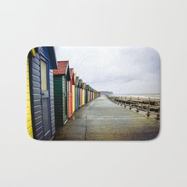 Whitby beach huts Bath Mat