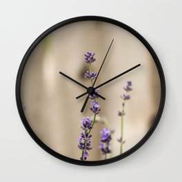 Lavender Buds and Blooms Wall Clock