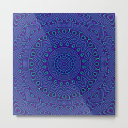 Trippy Kaleidoscope Metal Print