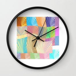 Digital Abstract Composition Wall Clock