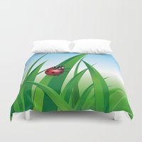 ladybug Duvet Covers featuring ladybug by Li-Bro