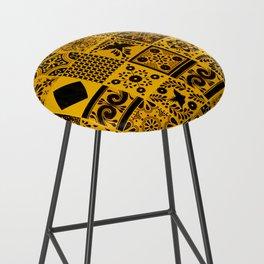 Anthropologie Bohemian Moroccan Yellow Traditional Artwork (N27). Bar Stool