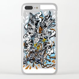 Eagle Vs Drone Clear iPhone Case