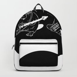 Keytar Platypus Venn Diagram Black and White Backpack