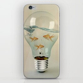 ideas and goldfish 03 iPhone Skin