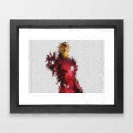 Made of Iron Framed Art Print