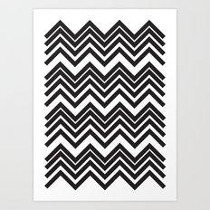 Black Chevron Art Print