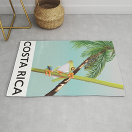 Costa Rica Tree Frog travel poster. Rug