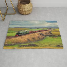 The Flying Scotsman Locomotive Rug