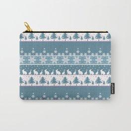 Retro .Christmas . Carry-All Pouch