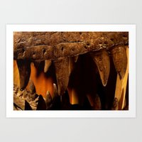 Dino teeth Art Print