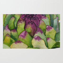 Watercolour Artichoke Rug
