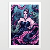 ursula Art Prints featuring Ursula by Angela Rizza