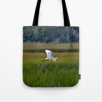 grace Tote Bags featuring grace by Lisa Carpenter