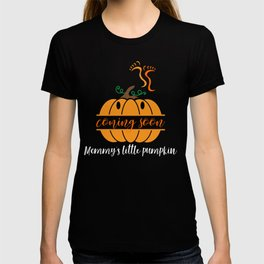 Coming Soon Mommy's Little Pumpkin Cute Pregnancy Design T-shirt