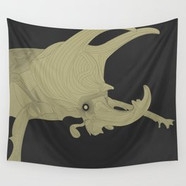All lines lead to the...Inverted Rhino Beetle Wall Tapestry