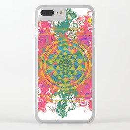 Sagittarius Sri Yantra Clear iPhone Case