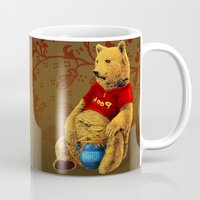 pooh Mugs featuring Pooh by J ō v