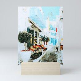 Quiet Street at MyKonos Mini Art Print