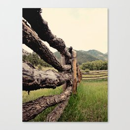 Colorado, fence, color Canvas Print