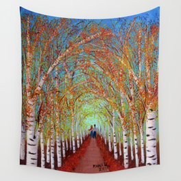 Autumn Birch  Wall Tapestry