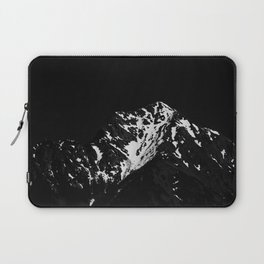 Minimalistic black and white snow covered mountain Laptop Sleeve