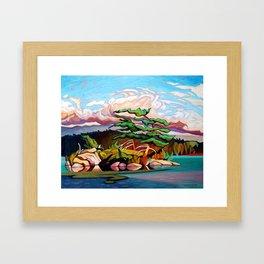 Juniper Islet by Amanda Martinson Framed Art Print