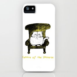 Centre of the Universe (Yellow) iPhone Case