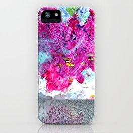 Magenta Abstraction iPhone Case