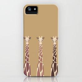 Triple Giraffes iPhone Case