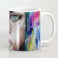 waterfall Mugs featuring Waterfall  by Bella Harris