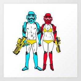 Mr. and Mrs. Storm Art Print