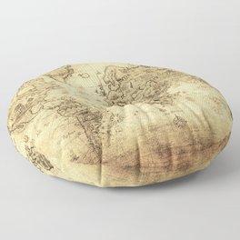 Old World map Floor Pillow