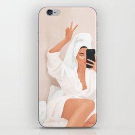 Morning Selfie iPhone Skin
