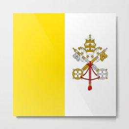 Vatican City Flag Metal Print