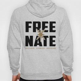 FREE NATE (black on white) Hoody