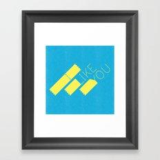 I Like You Graphik: Yellow Type Framed Art Print